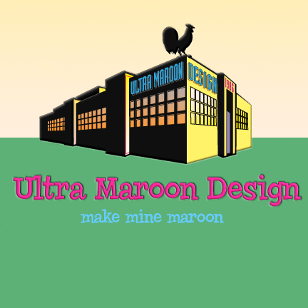 UltraMaroon Design logo